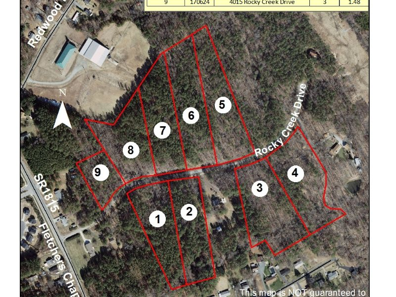 Residential Lots In Rocky Creek Sub : Durham : Durham County : North Carolina