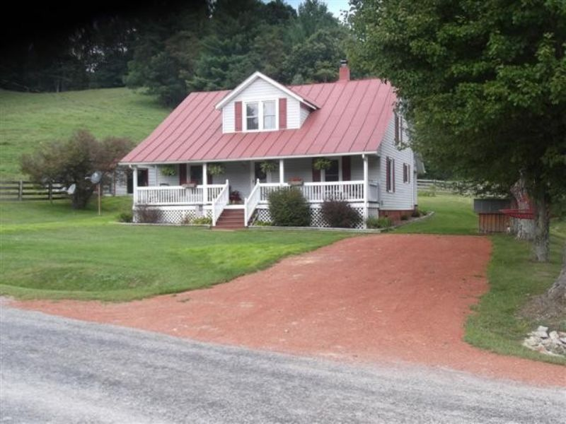 Country Home & Acreage Near Jnf : Troutdale : Grayson County : Virginia
