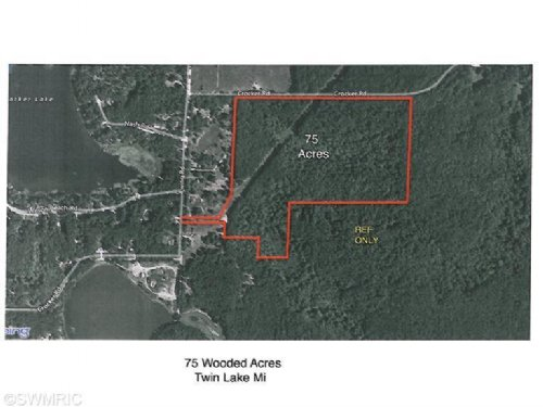 75 Hunting Acres : Twin Lake : Muskegon County : Michigan