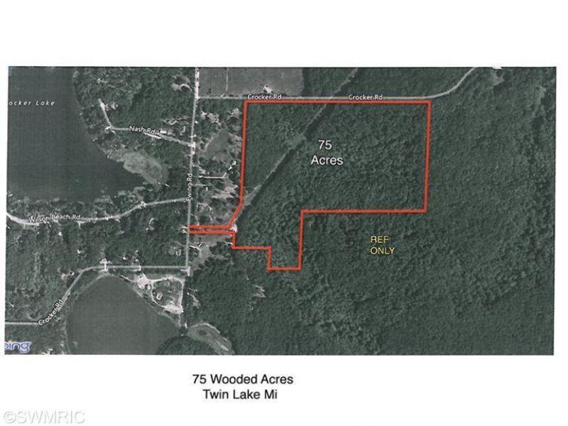 75 Hunting Acres : Twin Lake : Muskegon County : Michigan