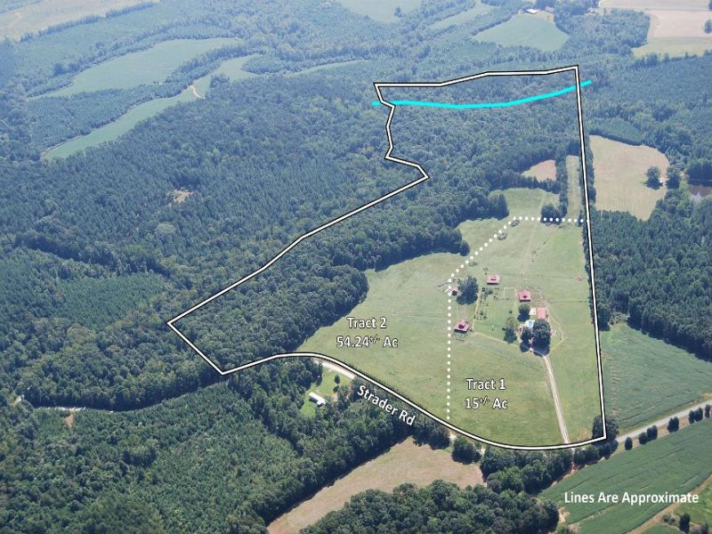69 Acre Farm With 6br Home : Chatham : Pittsylvania County : Virginia