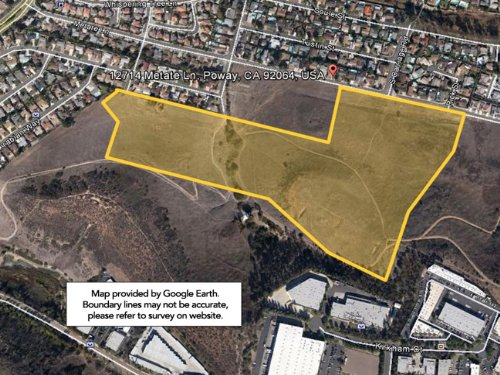 41.45+/- Acres Hilly, Rolling Te : Poway : San Diego County : California