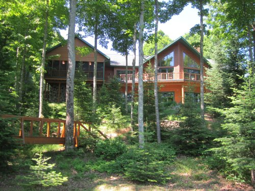 Oxbow Lake Home : Presque Isle : Vilas County : Wisconsin