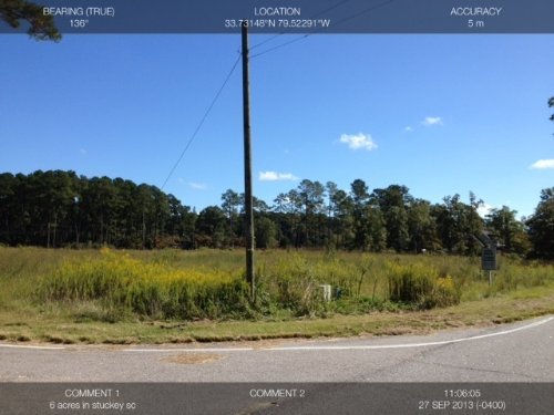 6.3 Ac Home Site Stucky Community : Hemingway : Williamsburg County : South Carolina