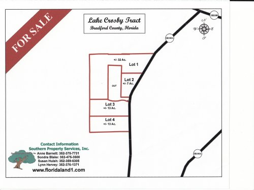 12.32 Acres - Lot 3 East Of Starke : Starke : Bradford County : Florida
