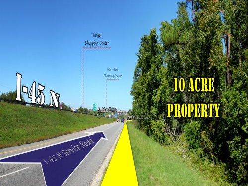 9.963 Acres - Interstate 45 : Huntsville : Walker County : Texas