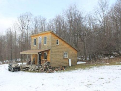 62 Acres Cabin Barns Pond Woods : Sempronius : Cayuga County : New York