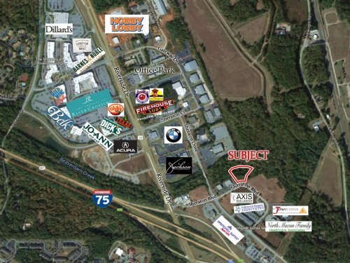 3.41 Acre Commercial Lot : Macon : Bibb County : Georgia