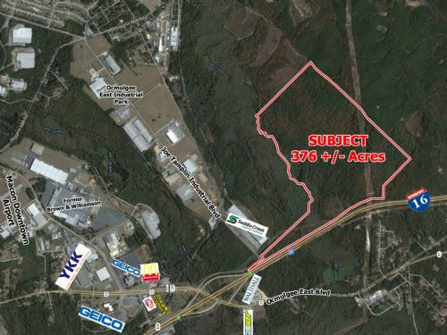 376 Acres On I-16 : Macon : Bibb County : Georgia