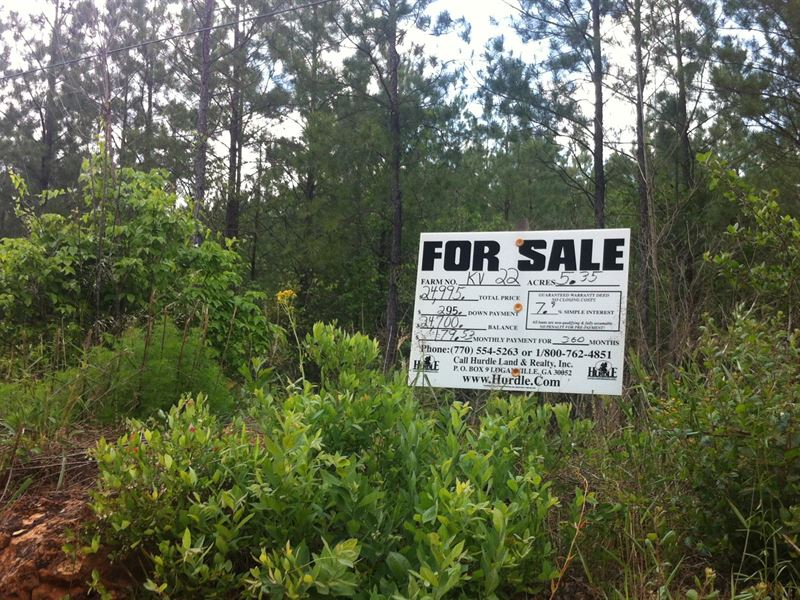 Robin Wood Farms, 3.55 Acre Lot : Macon : Twiggs County : Georgia