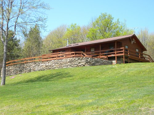 Custom Log Home On 12+ Acres : Orange : Schuyler County : New York