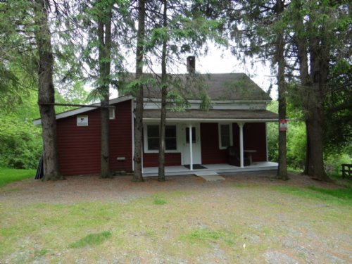 50 Acres Cabin Borders Forest : Smyrna : Chenango County : New York