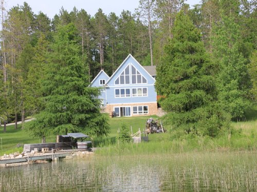 Custom Home On Mccollum Lake : Curran : Oscoda County : Michigan