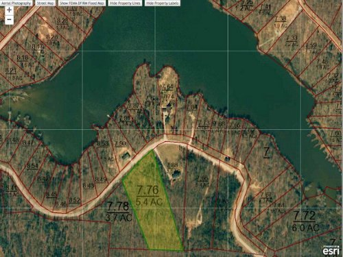 5.4 Acres Lot 267 In Indian Lake : Cedar Grove : Carroll County : Tennessee