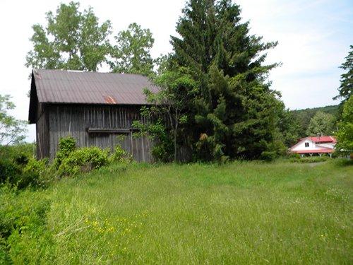 New York Greek Revival House Barns : Caroline : Tompkins County : New York