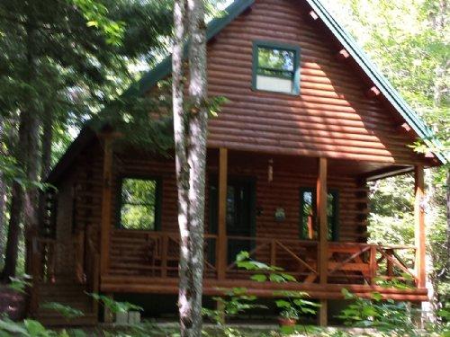 Moosehead  Cedar Log Cabin W/25acre : Dover Foxcroft : Piscataquis County : Maine