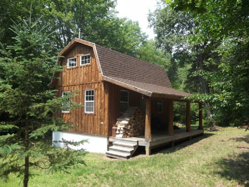 New Furnished Cabin Borders State : Redfield : Oswego County : New York
