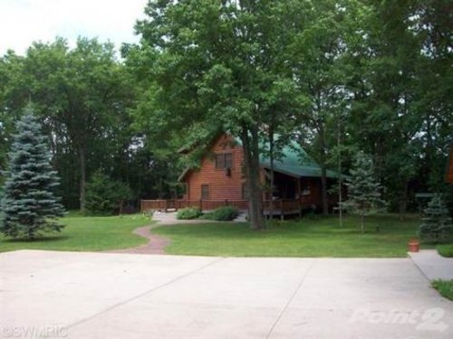 Log Home On Little Manistee River : Irons : Lake County : Michigan