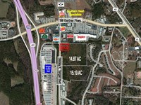 Retail Development Site : Locust Grove : Henry County : Georgia