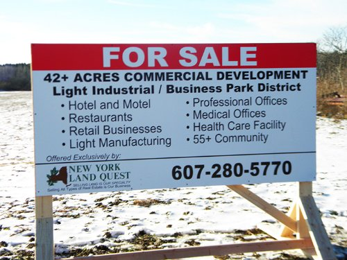 Prime Commercial Land In Village : Dryden : Tompkins County : New York