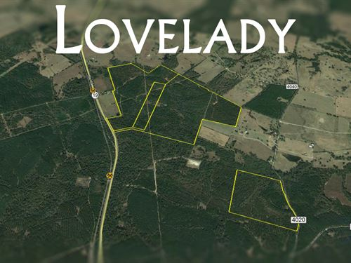 60 Ac Hwy 19 : Lovelady : Houston County : Texas