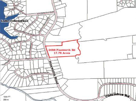 17+ Acres On Pineworth Road : Macon : Bibb County : Georgia