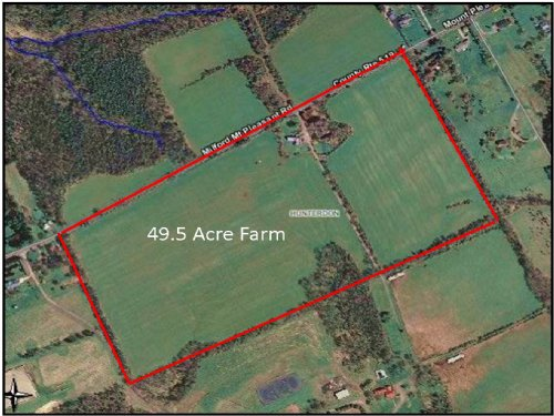 49.5+/- Acres Farmland : Milford : Hunterdon County : New Jersey