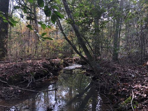 Hardwoods, Creek, Only $1450/Ac : Irwinton : Wilkinson County : Georgia