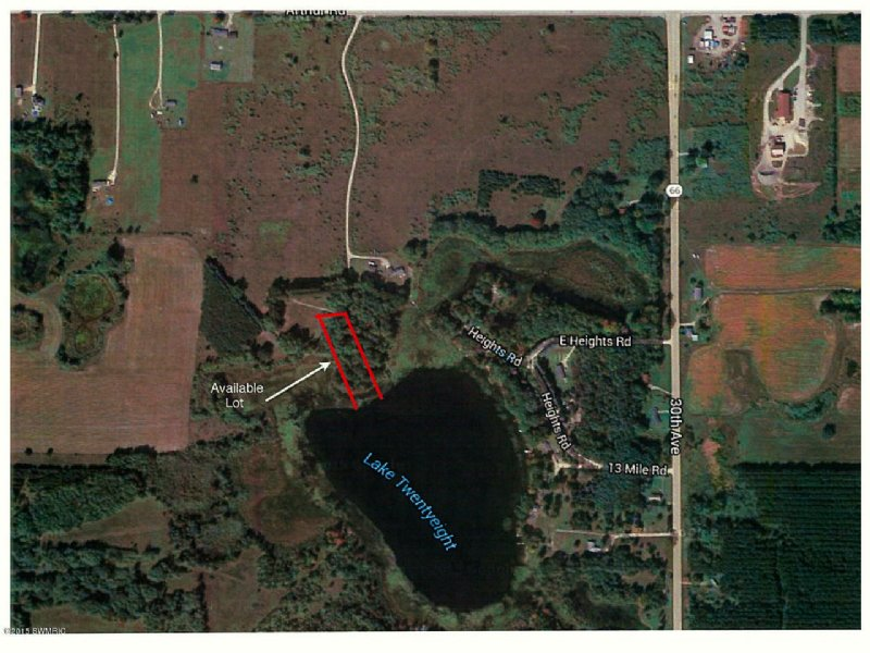 Remus Michigan Map.Private Lot On Lake 28 Land For Sale Remus Mecosta County