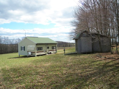 34 Acres With 2 Trailer Campers : Troupsburg : Steuben County : New York