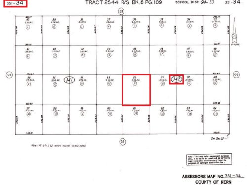 2.52 Acre Residential Land : Edwards Afb : Kern County : California