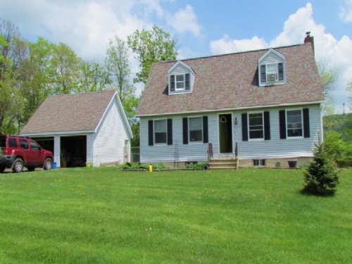 Home Barn Near Binghamton Pasture : Windsor : Broome County : New York