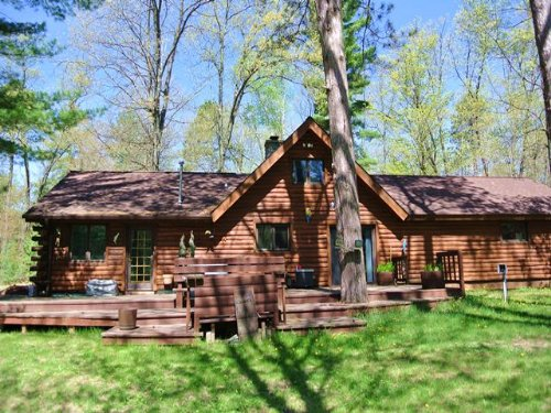 Log Home On 5.18 Acres In Newbold : Newbold : Oneida County : Wisconsin