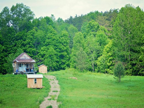 Cabin Solar Seclusion Homesteaders : Williamstown : Oswego County : New York