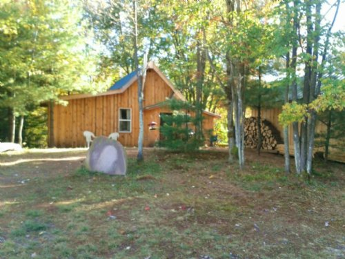 Cabin On Little Salmon River : Amboy : Oswego County : New York