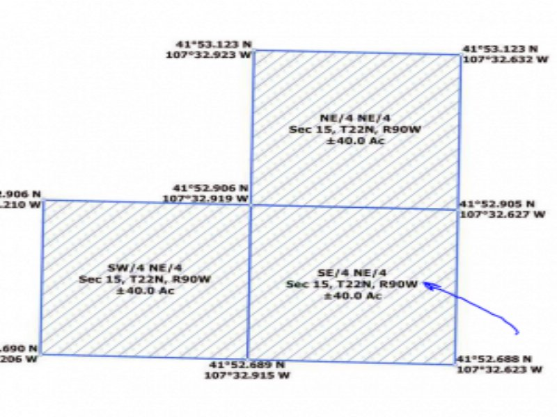 Recreational Acreage For Sale : Rawlins : Sweetwater County : Wyoming