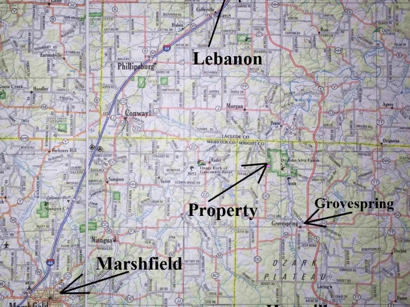 10 Wooded  Mo Acres For $500 Down : Grovespring : Wright County : Missouri