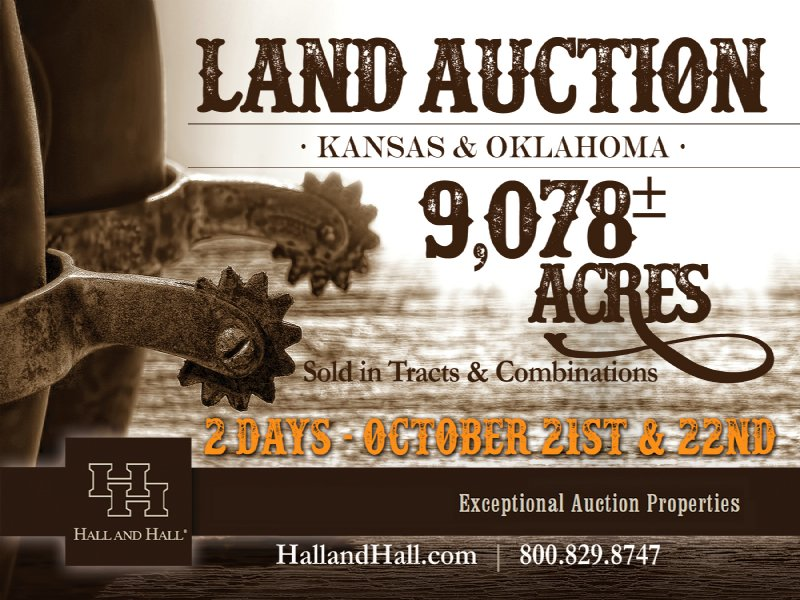9,078 Acre Ks/ok Land Auction : Anthony : Harper County : Kansas