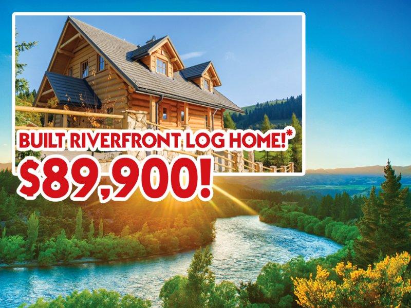 Riverfront Log Home Only $89,900 : West Jefferson : Ashe County : North Carolina