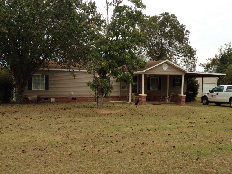 3 Br Mobile Home On 5 Ac : Goshen : Pike County : Alabama