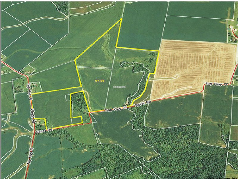 97 Acres Vacant Land : Frankfort : Ross County : Ohio