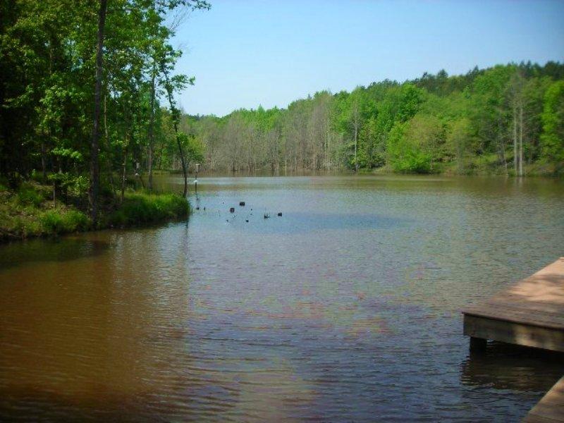 Osley Mill Lake & Shoals : Carlton : Madison County : Georgia
