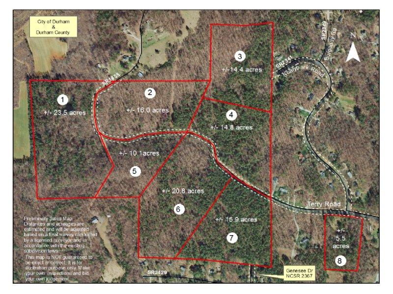 121+/- Acres In Durham, Nc : Durham : Durham County : North Carolina