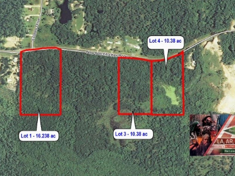 16.2 Ac Large Home Site Lots Pric : West Monroe : Ouachita Parish : Louisiana