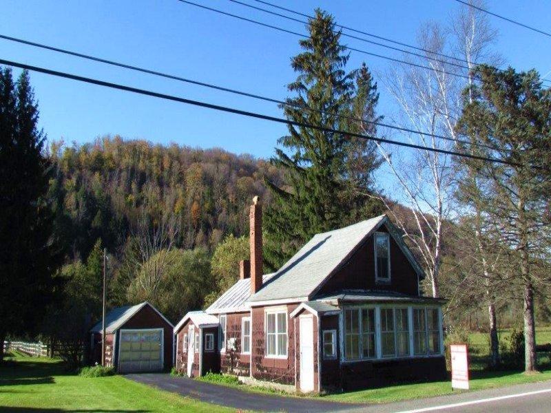 House & Garage Near Otselic River : Otselic : Chenango County : New York
