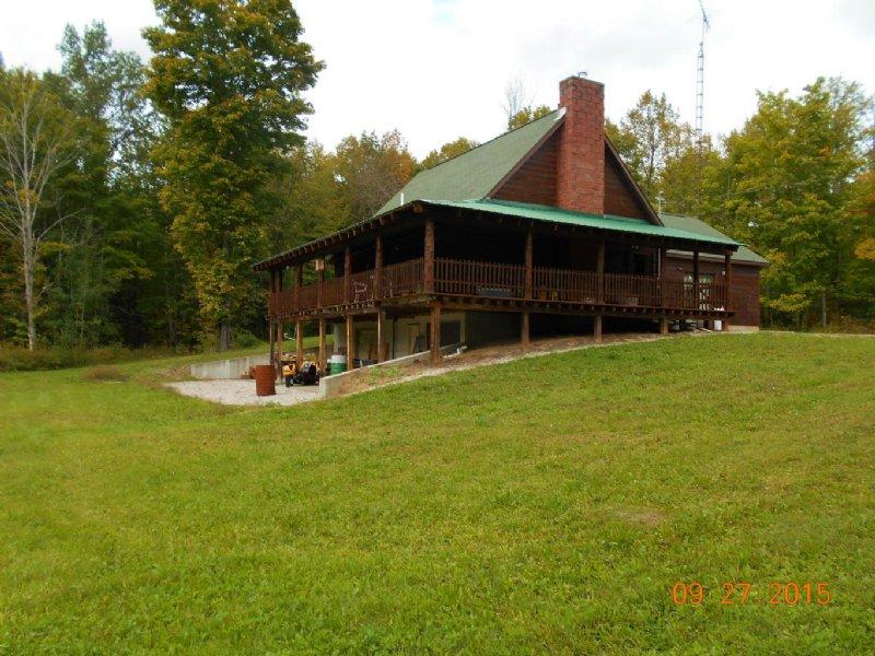 Log Home On 40 Acres : Onaway : Presque Isle County : Michigan