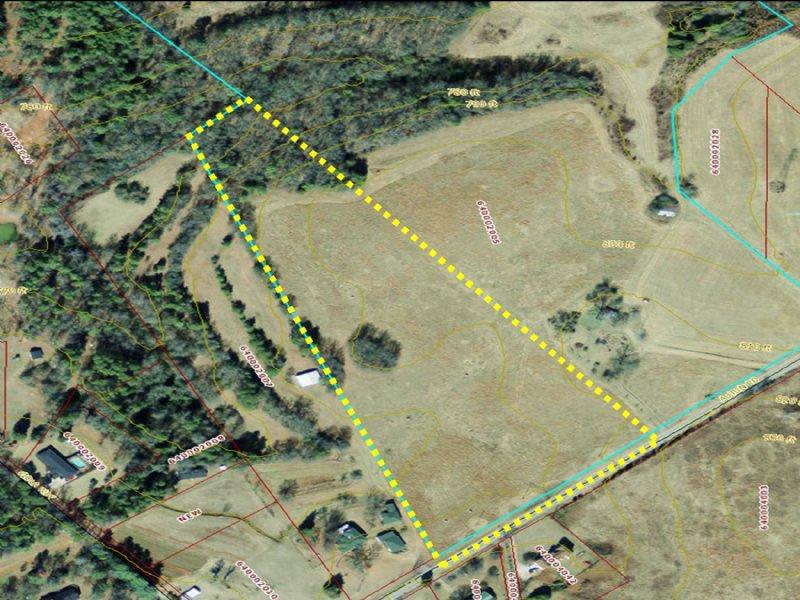 10.25 Acres W/ Pasture & Hardwoods : Pendleton : Anderson County : South Carolina