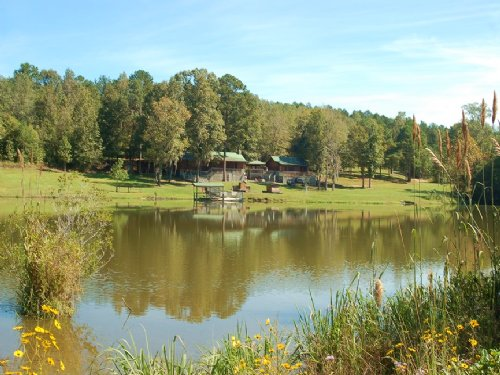 Lake And Lodge Near Troy, Al : Clio : Barbour County : Alabama