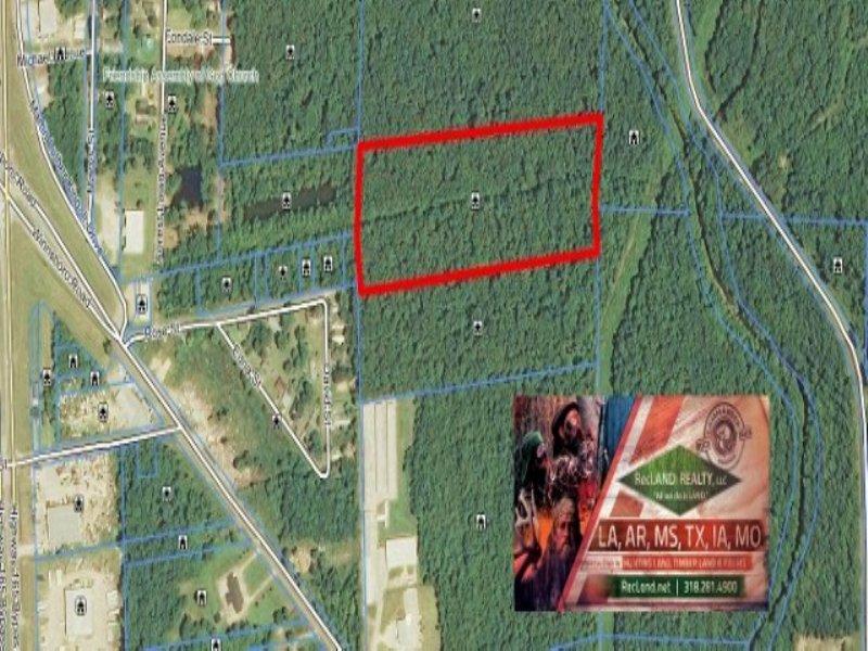 11.82 Acres Timber Land, Minerals : Monroe : Ouachita Parish : Louisiana
